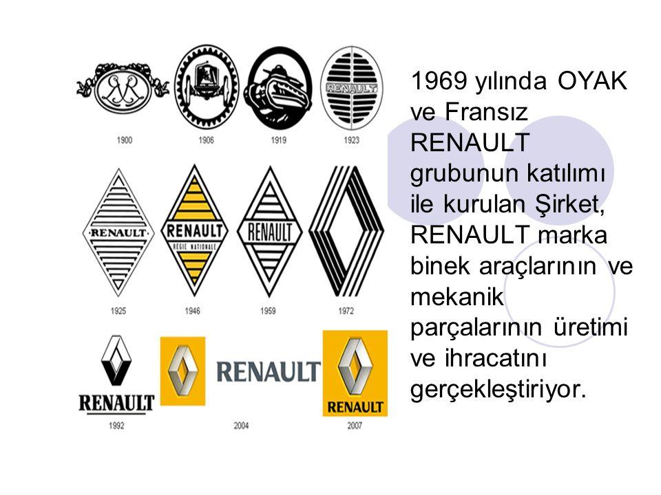 Oyak Renault Otomobil Fabrikaları,Türkiye'deki 40 yıllık tarihi boyunca Türkiye'nin ilk; station wagonlu (Renault 12 SW), klimalı (Renault 12 GTS), dizel motorlu (Renault 9 GTD), otomatik vitesli (Renault 9), yol bilgisayarlı (Renault 21 Concorde) otomobilini, dizel otomobil motorunun üretimini gerçekleştirerek pek çok ilke imza attı.