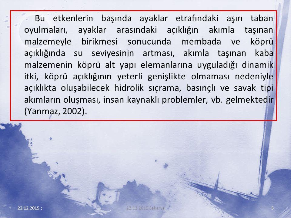 22.12.2015 ;16 Şekil 2.Köprü Ayağı Altında Alt Akım (Aksöz, 1967).