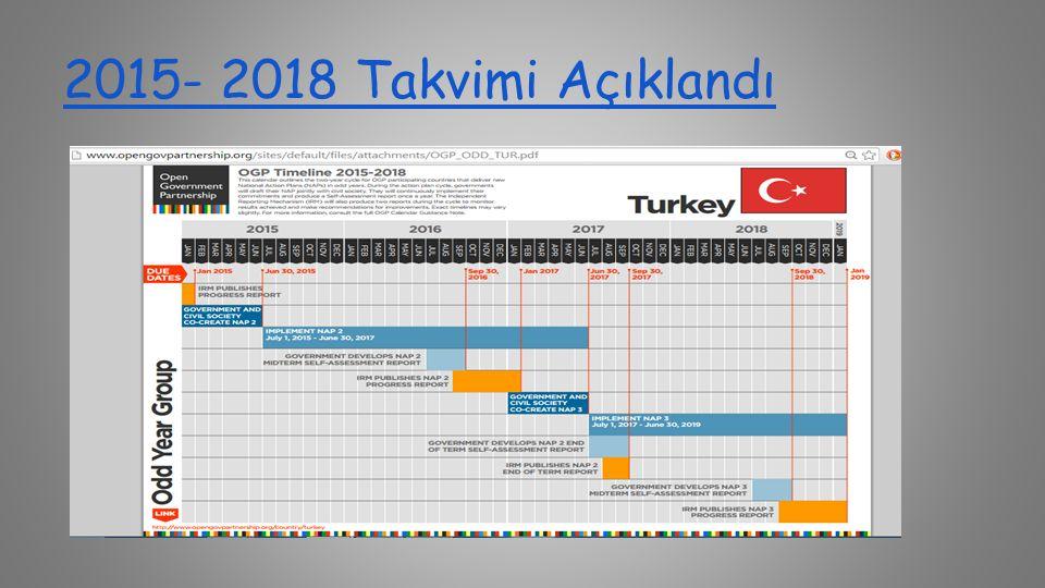 2015- 2018 Takvimi Açıklandı