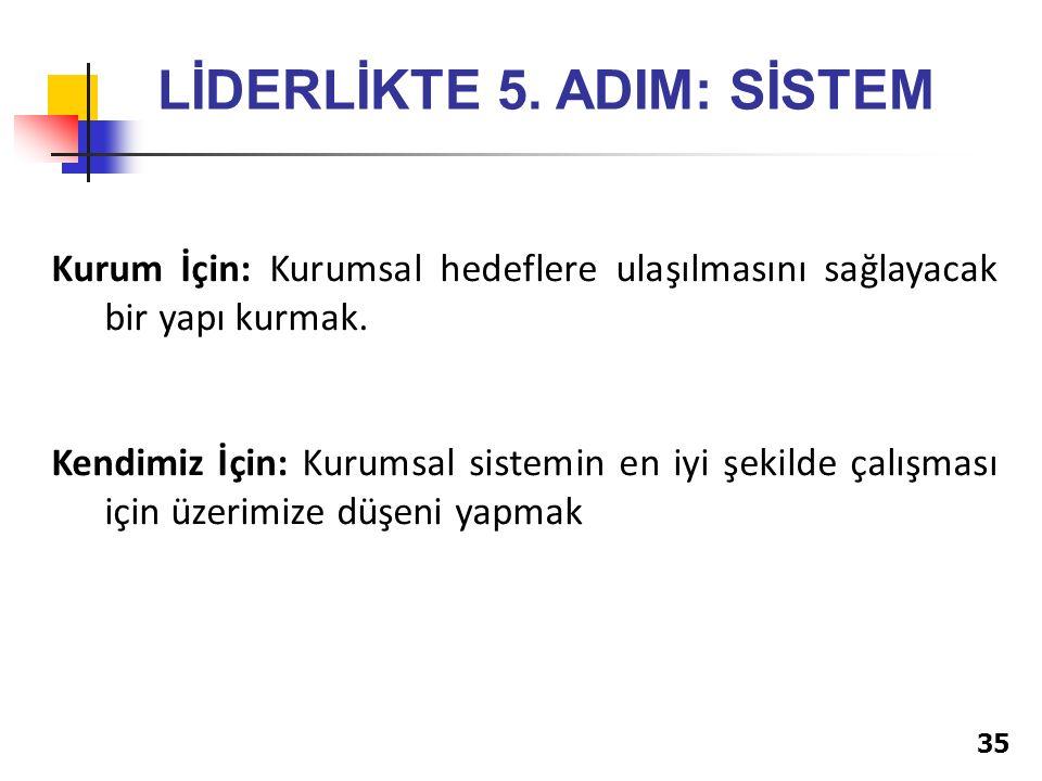 35 LİDERLİKTE 5.