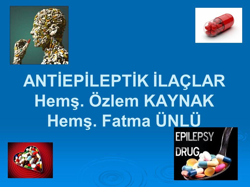 FENİTOİN (EPDANTOİN)  Tonik- klonik ve parsiyel nöbetlerin tedavisinde özellikle erişkinler için ilk seçilecek ilaçtır.