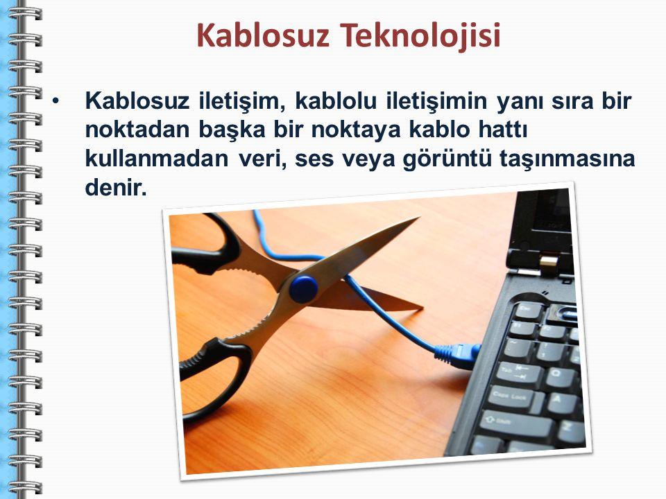 Kablosuz iletişim, kablolu iletişimin yanı sıra bir noktadan başka bir noktaya kablo hattı kullanmadan veri, ses veya görüntü taşınmasına denir. Kablo