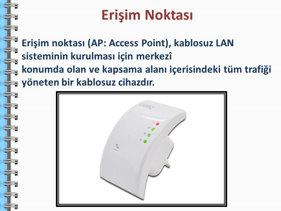 Erişim noktası (AP: Access Point), kablosuz LAN sisteminin kurulması için merkezî konumda olan ve kapsama alanı içerisindeki tüm trafiği yöneten bir k
