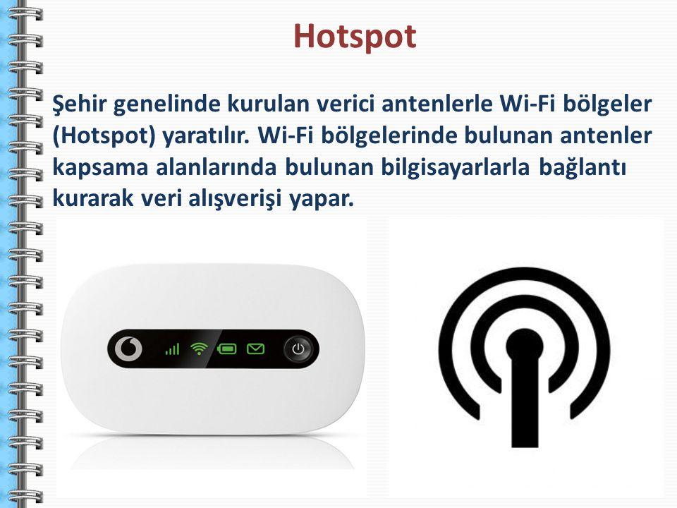 Şehir genelinde kurulan verici antenlerle Wi-Fi bölgeler (Hotspot) yaratılır. Wi-Fi bölgelerinde bulunan antenler kapsama alanlarında bulunan bilgisay