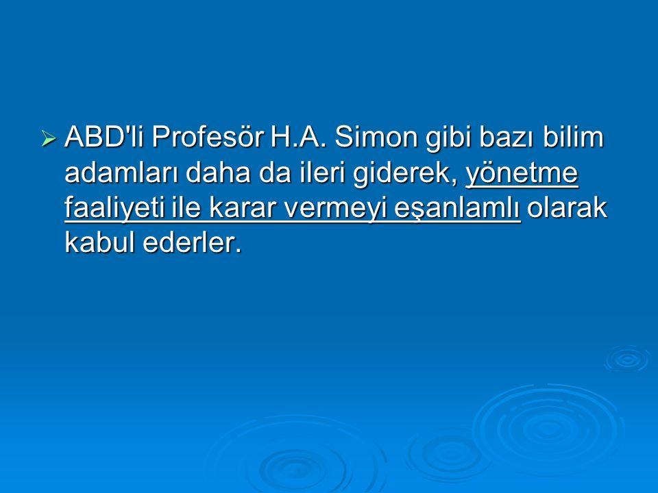  ABD li Profesör H.A.
