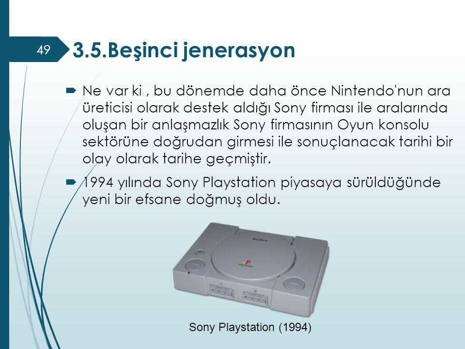  Ne var ki, bu dönemde daha önce Nintendo'nun ara üreticisi olarak destek aldığı Sony firması ile aralarında oluşan bir anlaşmazlık Sony firmasının O