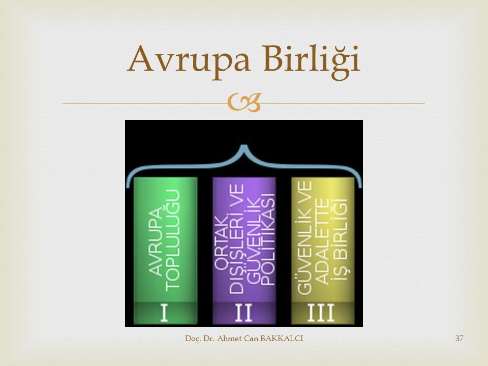  Avrupa Birliği Doç. Dr. Ahmet Can BAKKALCI37