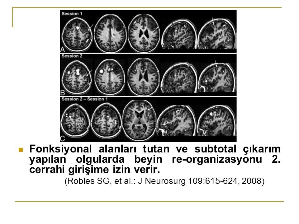 Fonksiyonal alanları tutan ve subtotal çıkarım yapılan olgularda beyin re-organizasyonu 2.