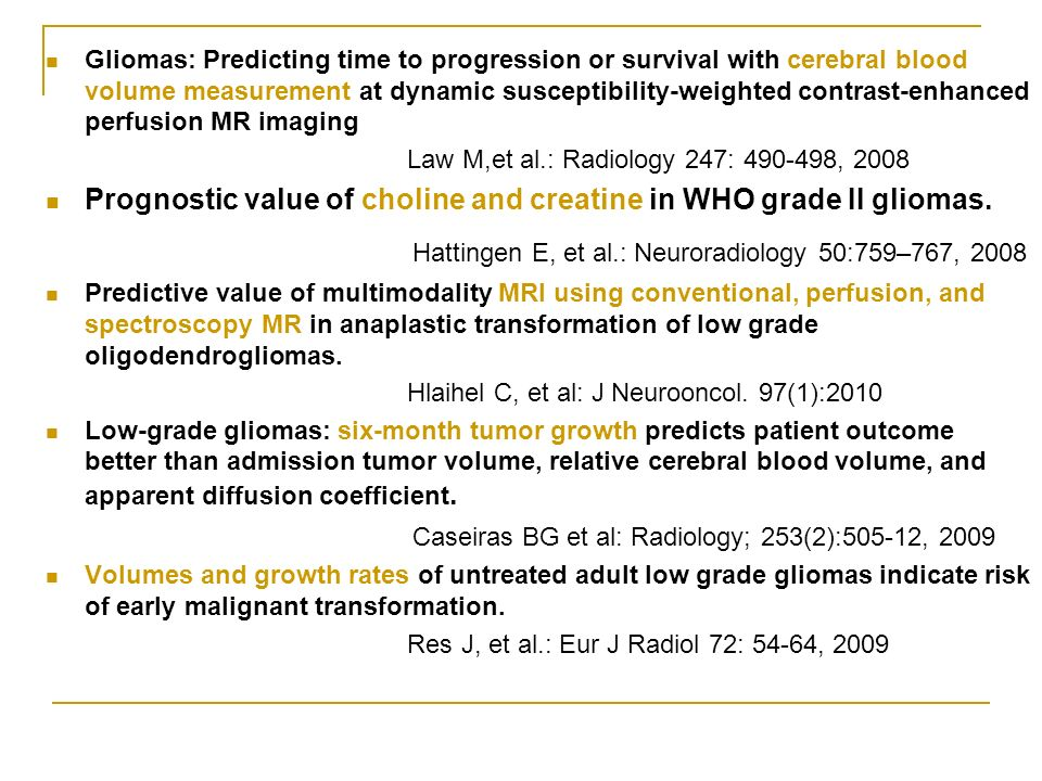 Gliomas: Predicting time to progression or survival with cerebral blood volume measurement at dynamic susceptibility-weighted contrast-enhanced perfus