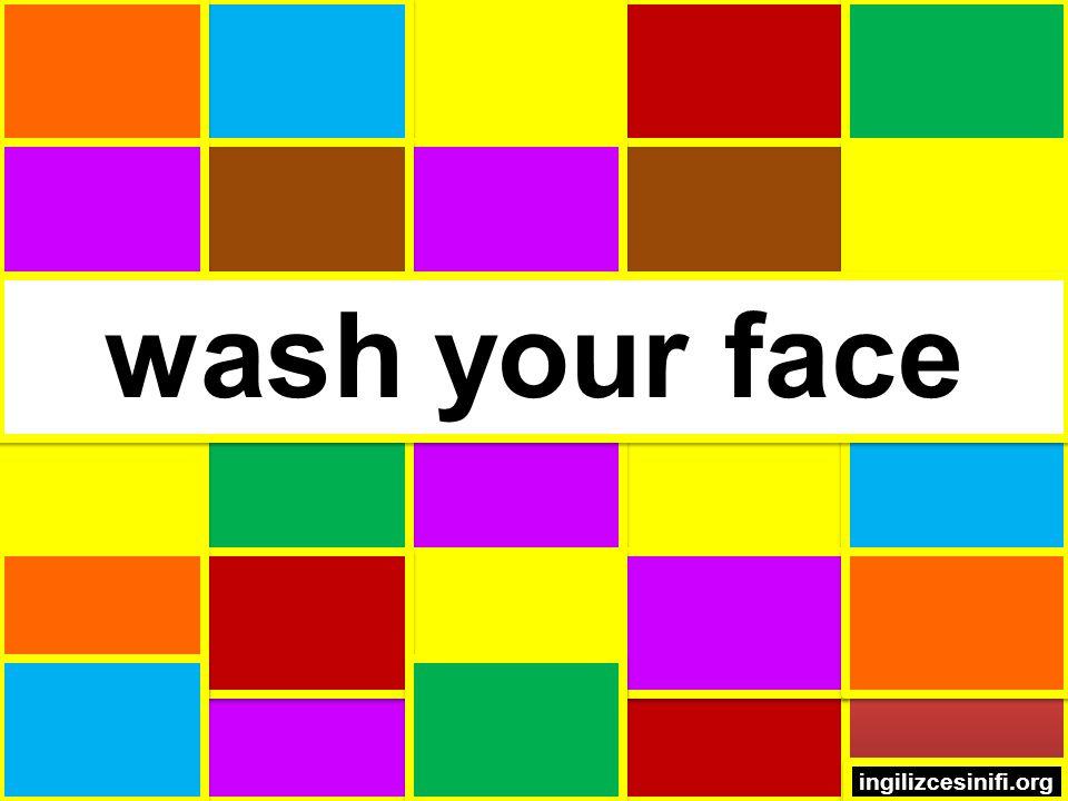 wash your face ingilizcesinifi.org