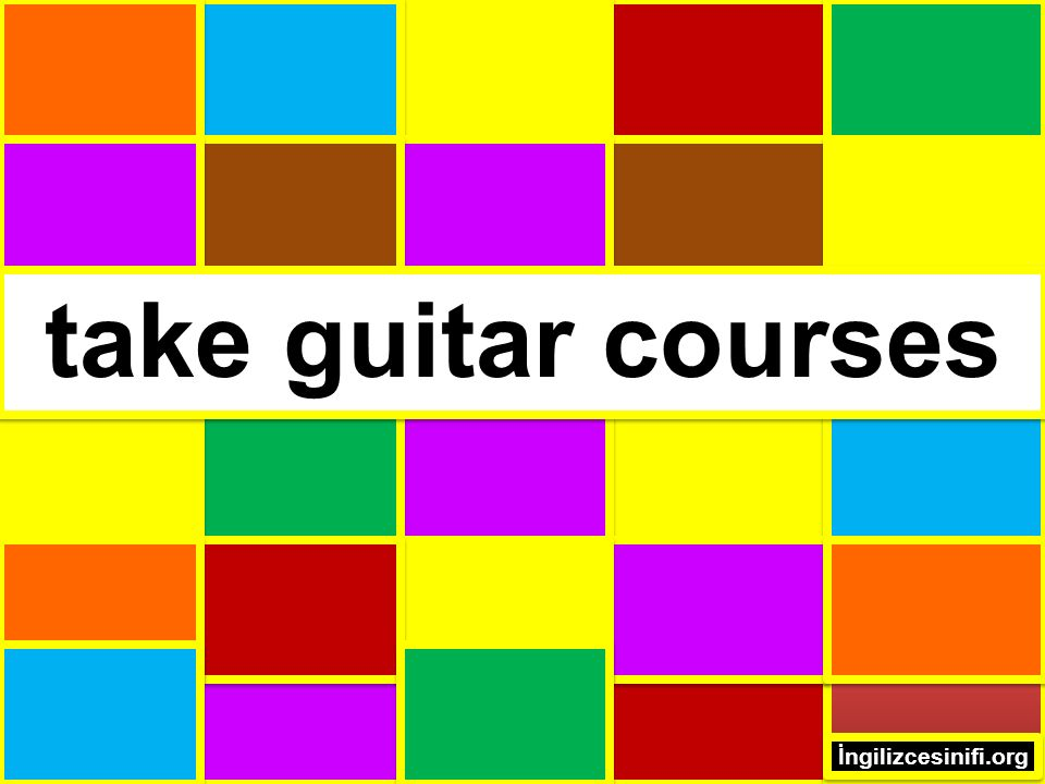 take guitar courses İngilizcesinifi.org