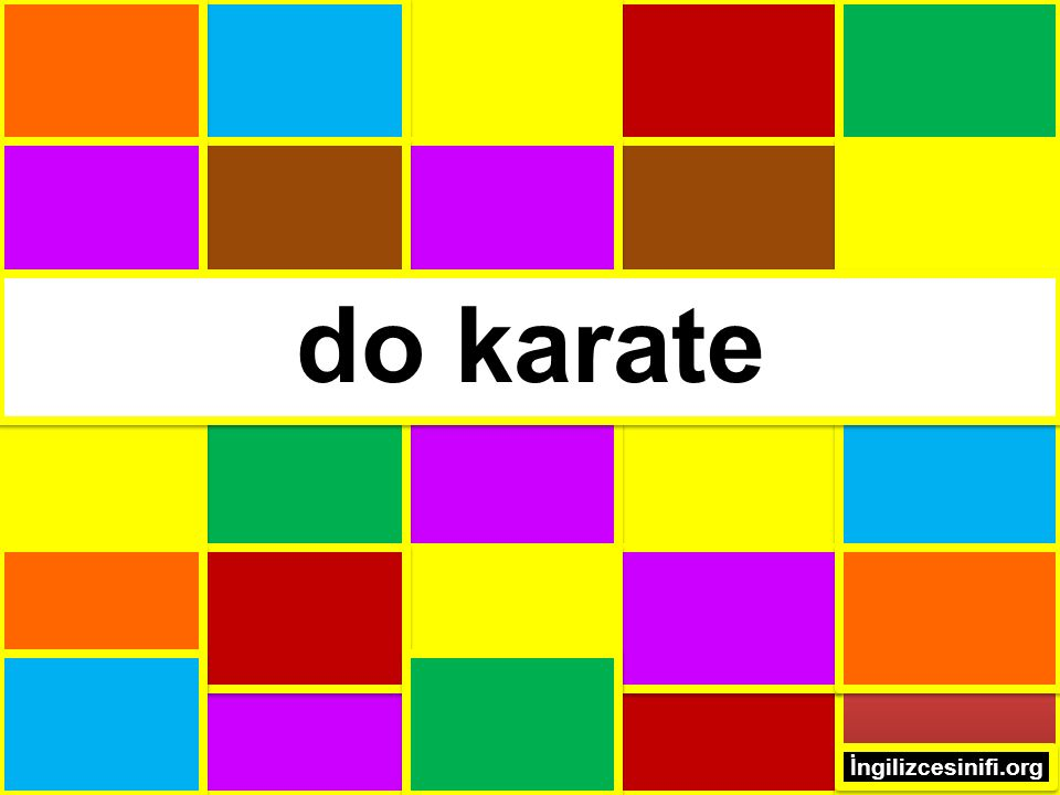 do karate İngilizcesinifi.org