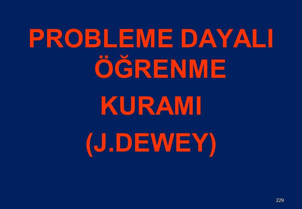 PROBLEME DAYALI ÖĞRENME KURAMI (J.DEWEY) 229