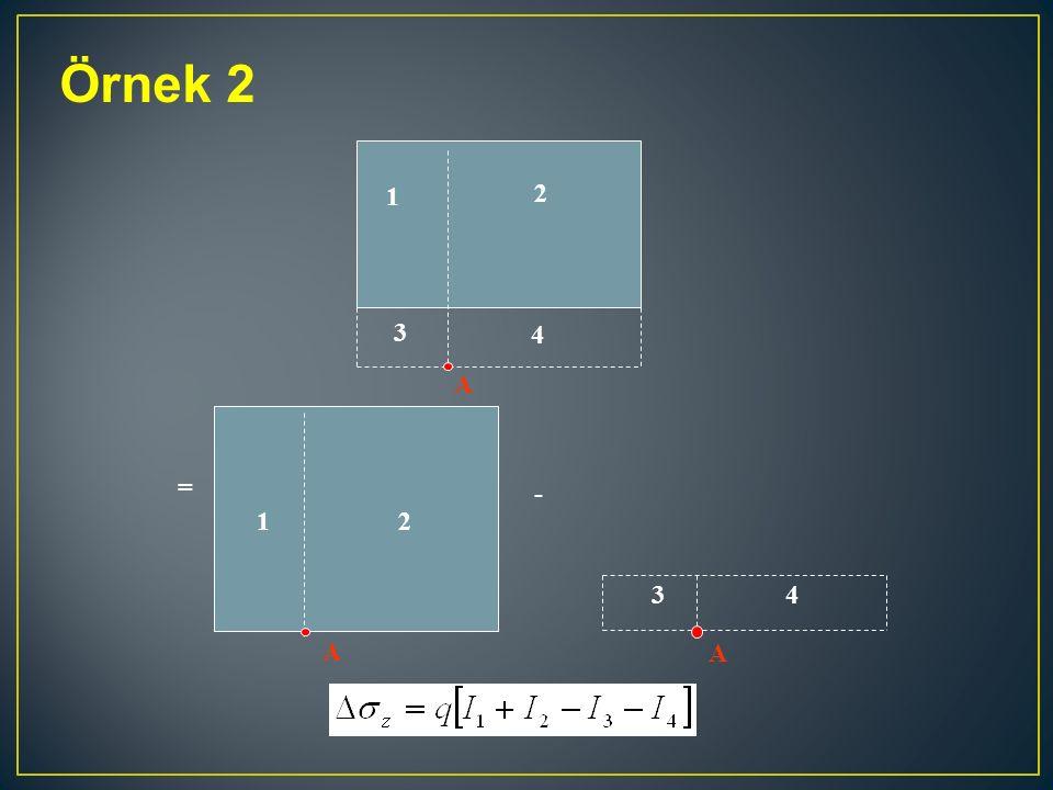 Örnek 2 A = A 12 - A 34 3 2 1 4