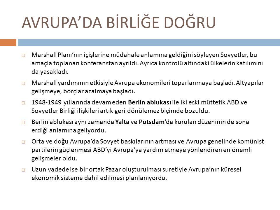 AVRUPA KÖMÜR VE ÇELİK TOPLULUĞU 1.
