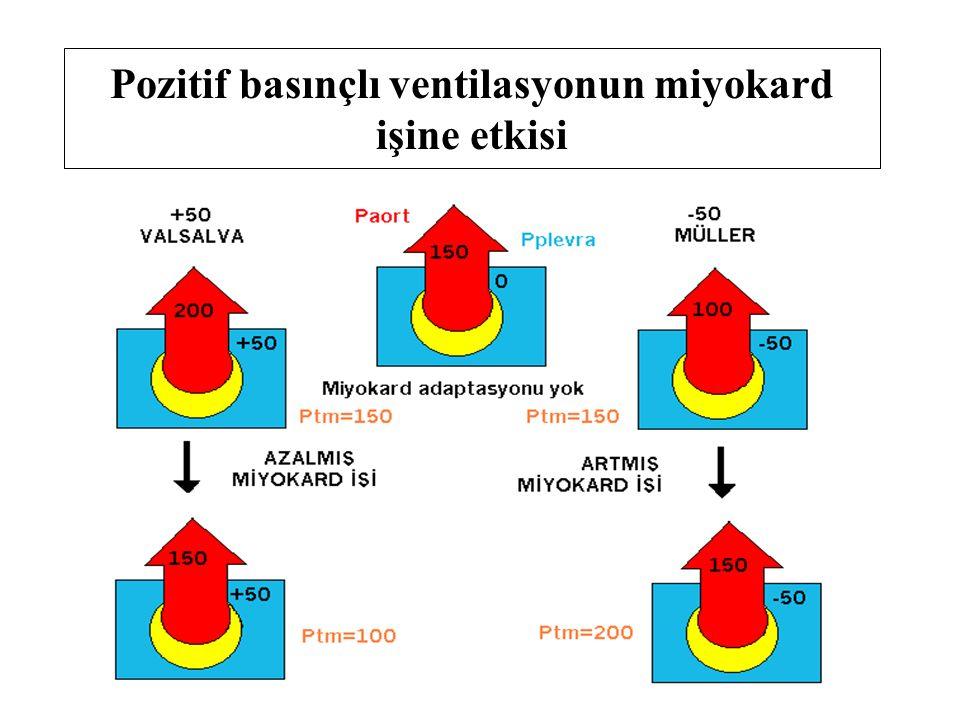 Pozitif basınçlı ventilasyonun miyokard işine etkisi