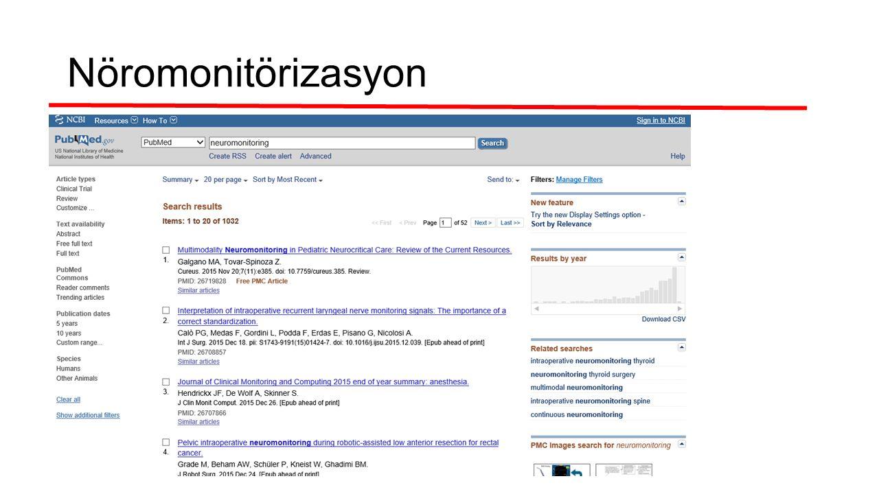 Nöromonitörizasyon
