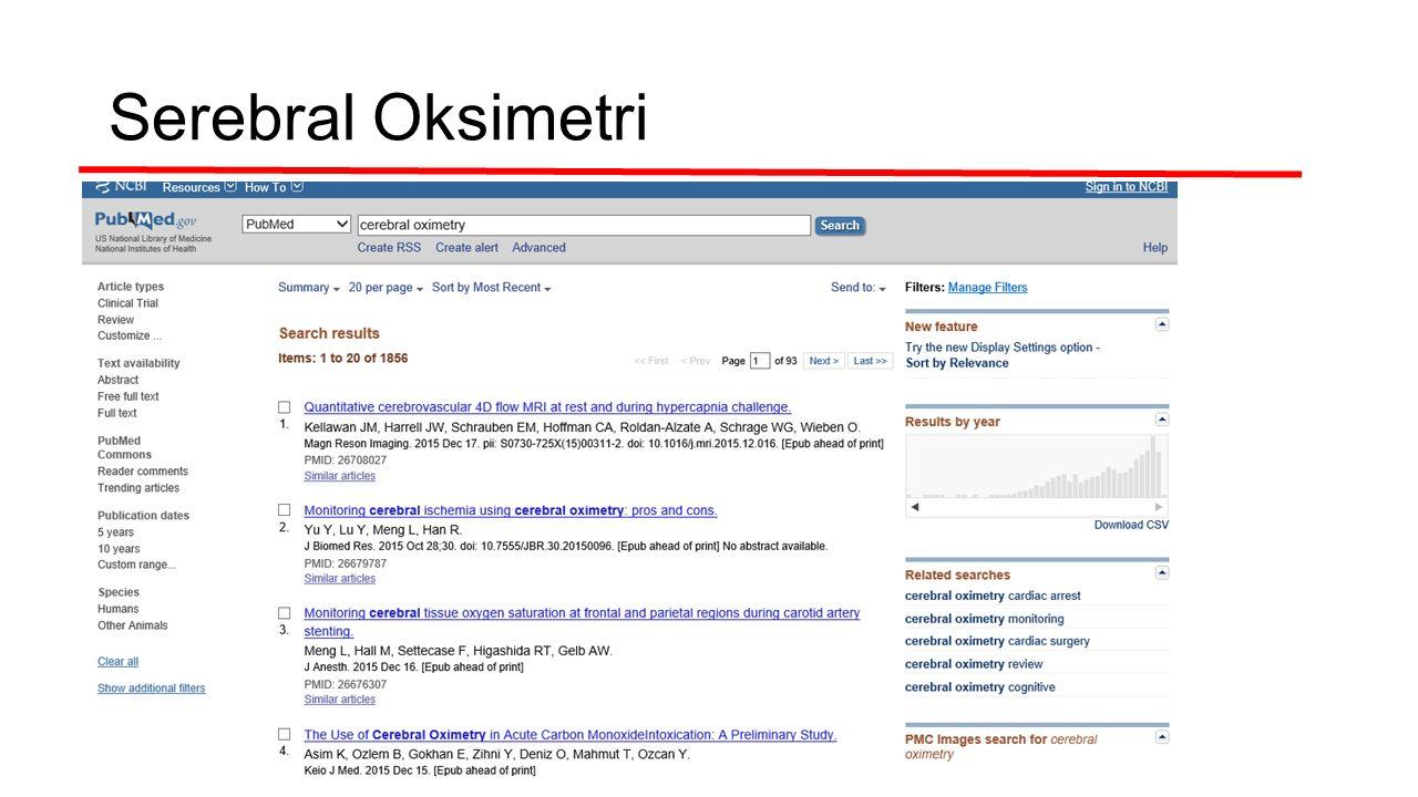 Serebral Oksimetri