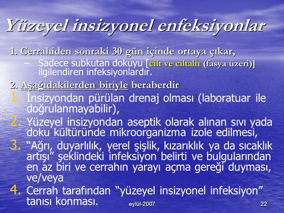 eylül-200722 Yüzeyel insizyonel enfeksiyonlar 1.