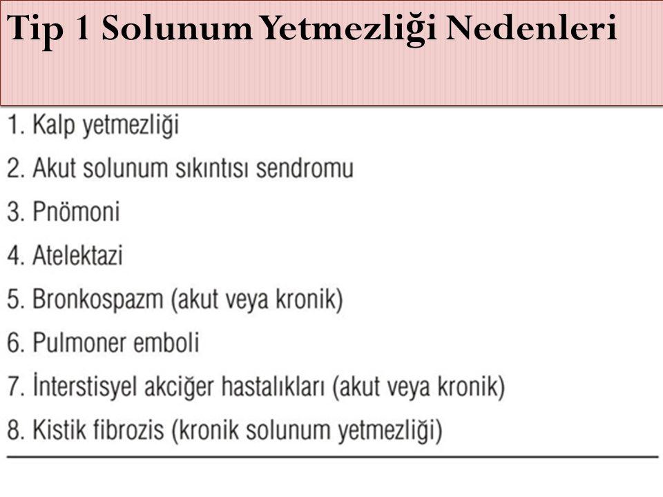 Tip 1 Solunum Yetmezli ğ i Nedenleri