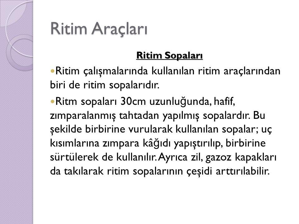 Ritim Araçları Ritim Sopaları Ritim çalışmalarında kullanılan ritim araçlarından biri de ritim sopalarıdır.