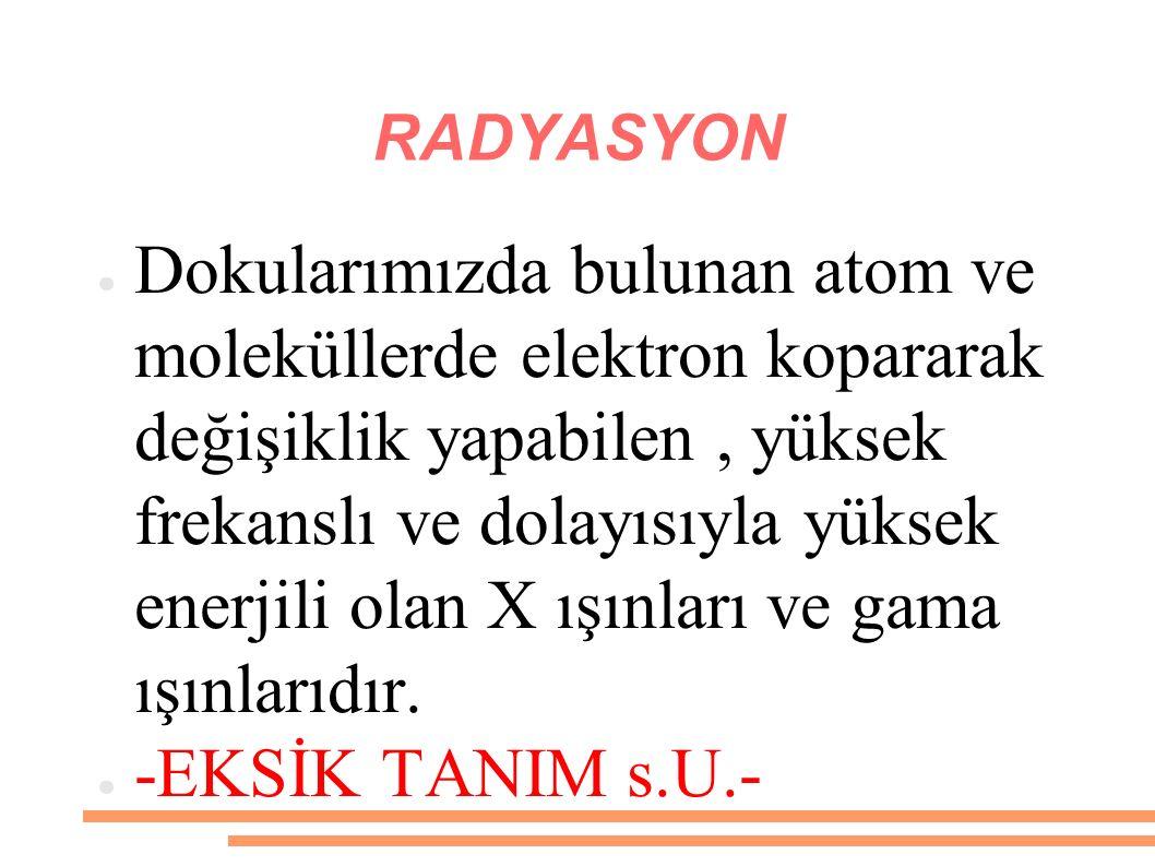 TEMEL RADYASYON SİMGESİ