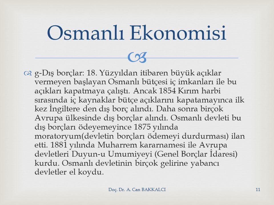   g-Dış borçlar: 18.