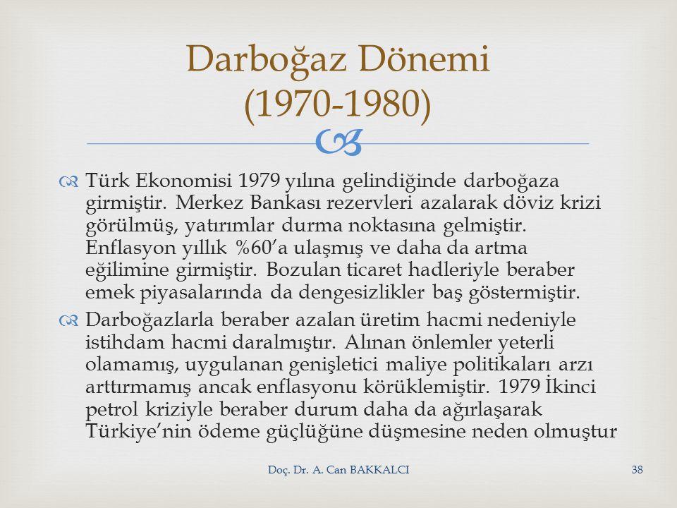   Türk Ekonomisi 1979 yılına gelindiğinde darboğaza girmiştir.
