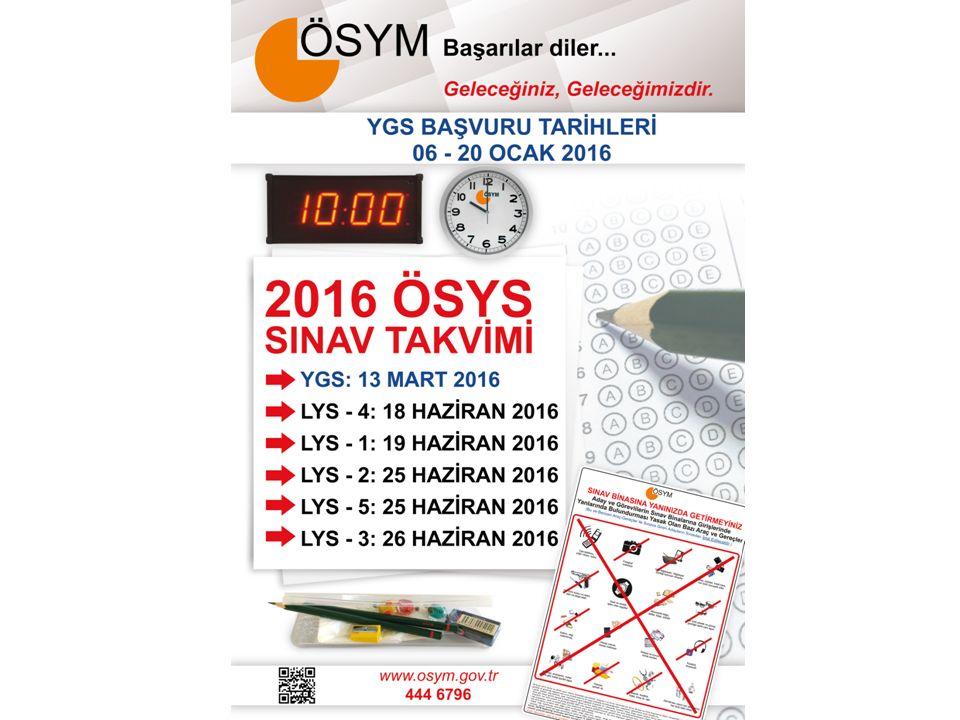 BAŞVURU NASIL YAPILACAK 2016-ÖSYS başvuruları 2 aşamadan oluşmaktadır: 1) Aday bilgilerinin ÖSYM Aday İşlemleri Sistemine işlenmesi ve onay kodunun sisteme girilmesi (Başvuru işlemi) 2) Sınav/sınavsız geçiş ücretinin yatırılması (Başvurunun tamamlanması) DİKKAT.