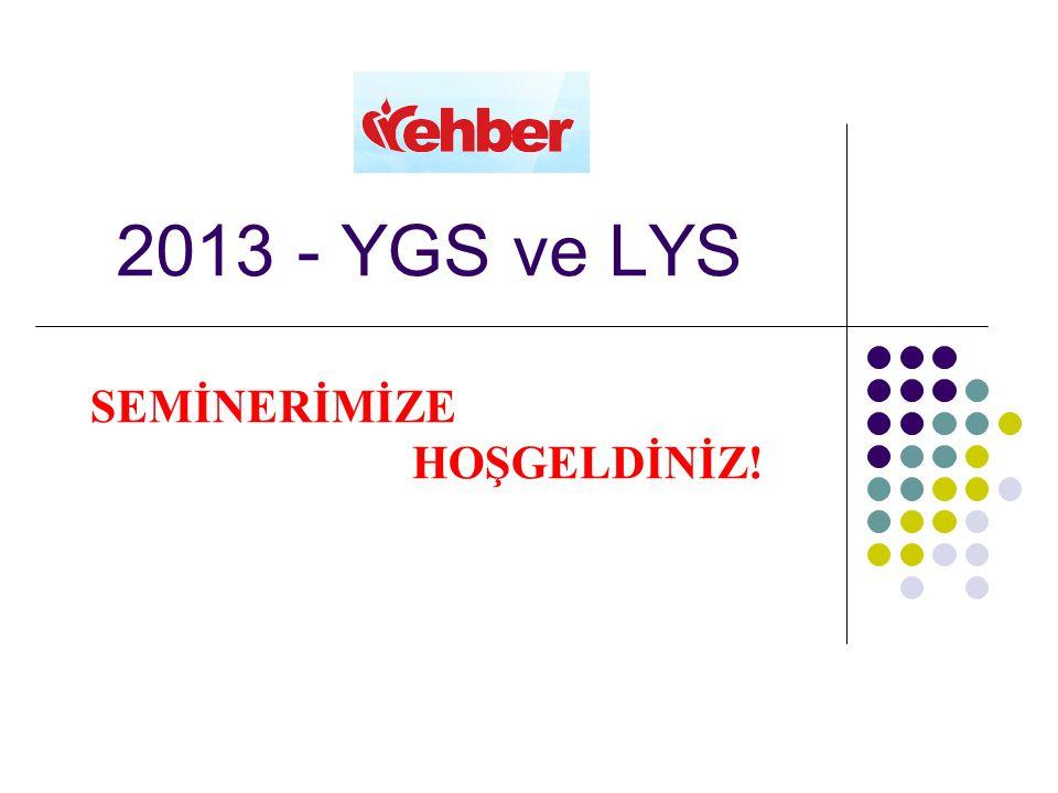 2013 - YGS ve LYS SEMİNERİMİZE HOŞGELDİNİZ!