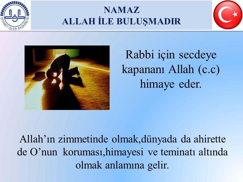 NAMAZ ALLAH İLE BULUŞMADIR NAMAZ ALLAH İLE BULUŞMADIR Rabbi için secdeye kapananı Allah (c.c) himaye eder. Allah'ın zimmetinde olmak,dünyada da ahiret