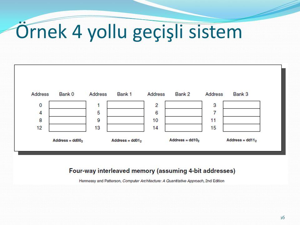 Örnek 4 yollu geçişli sistem 16