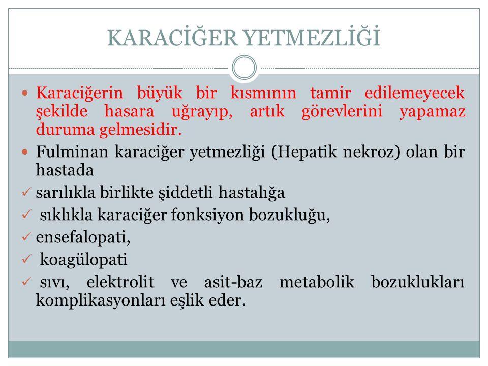 3.Hepatosit katabolik aktivitesini ölçen testler, Amonyak 4.