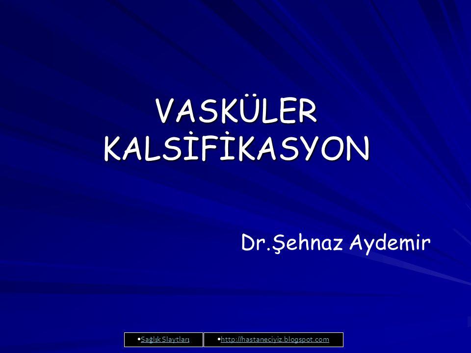 VASKÜLER KALSİFİKASYON Dr.Şehnaz Aydemir Sa ğ l ı k Slaytlar ıSa ğ l ı k Slaytlar ı http://hastaneciyiz.blogspot.com