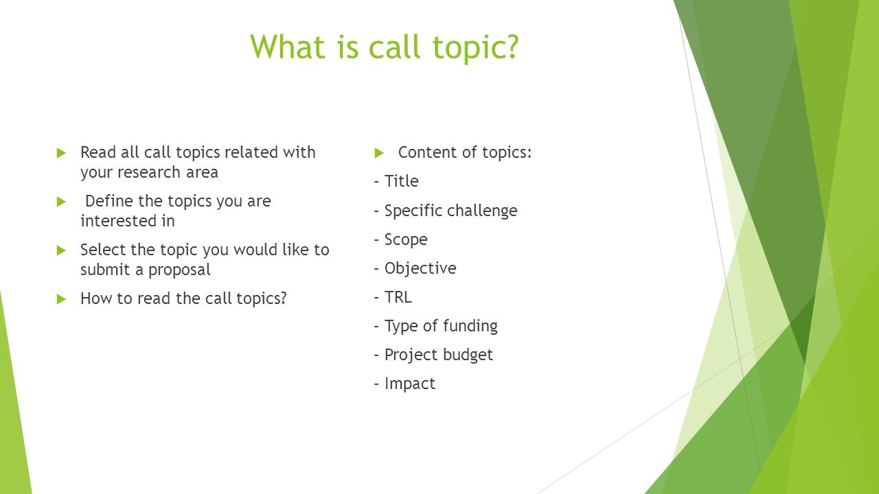 What is call topic.