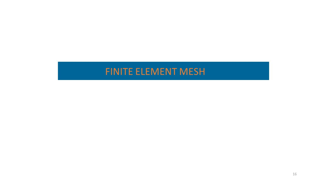 16 FINITE ELEMENT MESH
