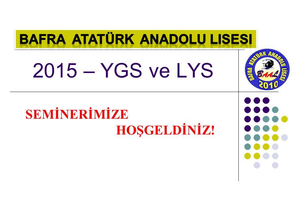2015 – YGS ve LYS SEMİNERİMİZE HOŞGELDİNİZ!