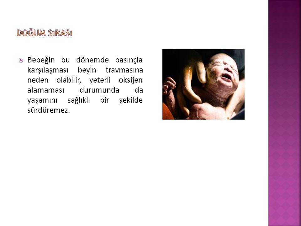  Bebeğin bu dönemde basınçla karşılaşması beyin travmasına neden olabilir, yeterli oksijen alamaması durumunda da yaşamını sağlıklı bir şekilde sürdüremez.