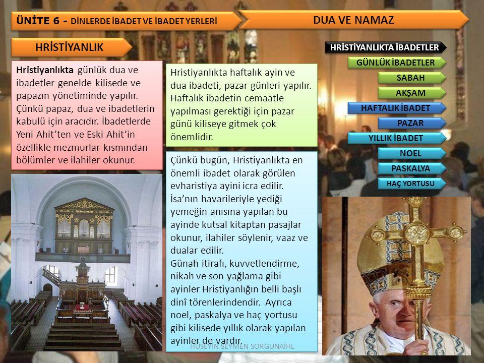 ÜNİTE 6 - DİNLERDE İBADET VE İBADET YERLERİ DİNLERDE İBADET YERLERİ Mabet, genelde bütün dinlerin ibadet mahallini ifade etmektedir.