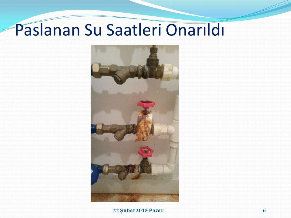 Paslanan Su Saatleri Onarıldı 622 Şubat 2015 Pazar