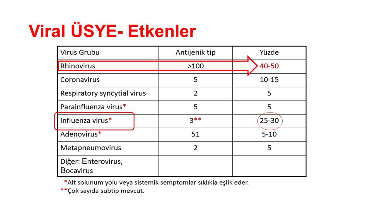 Akut Tonsillofarenjit- Etkenler Viruslar, %75 oranında etkendir.