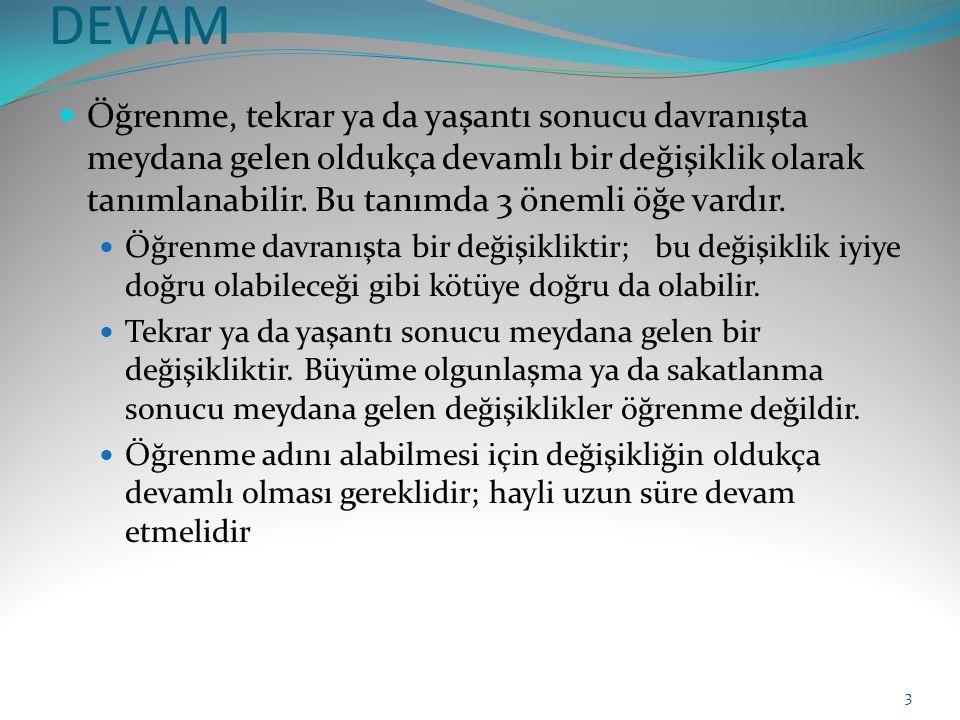 ÖĞRENME TÜRLERİ 1.