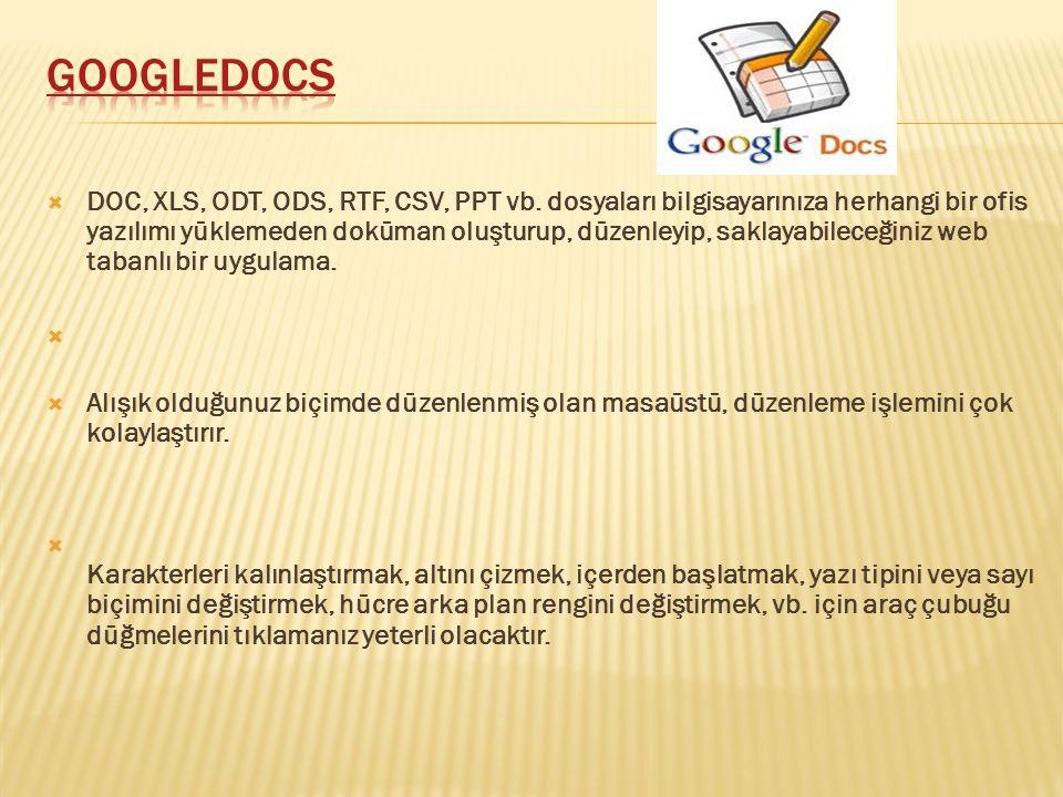  DOC, XLS, ODT, ODS, RTF, CSV, PPT vb.
