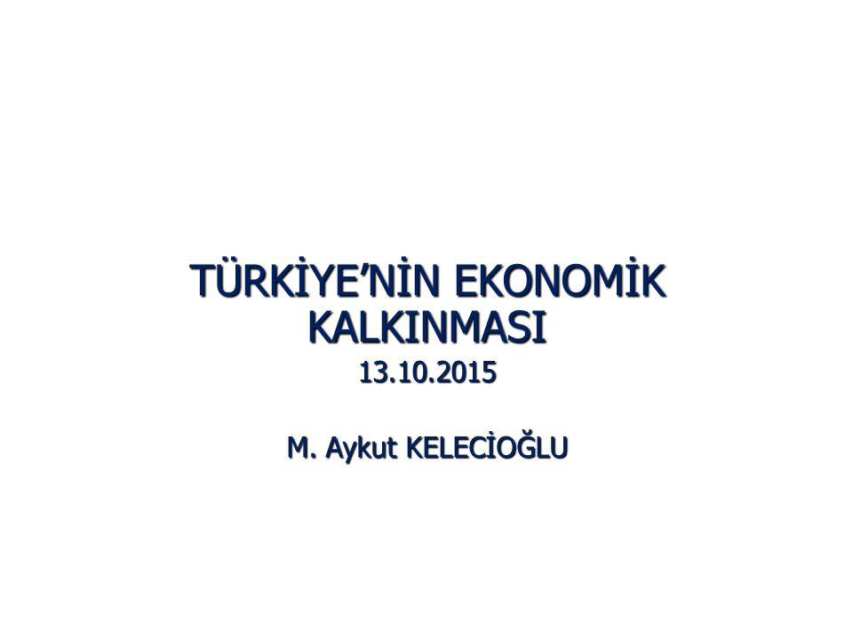 TÜRKİYE'NİN EKONOMİK KALKINMASI 13.10.2015 M. Aykut KELECİOĞLU