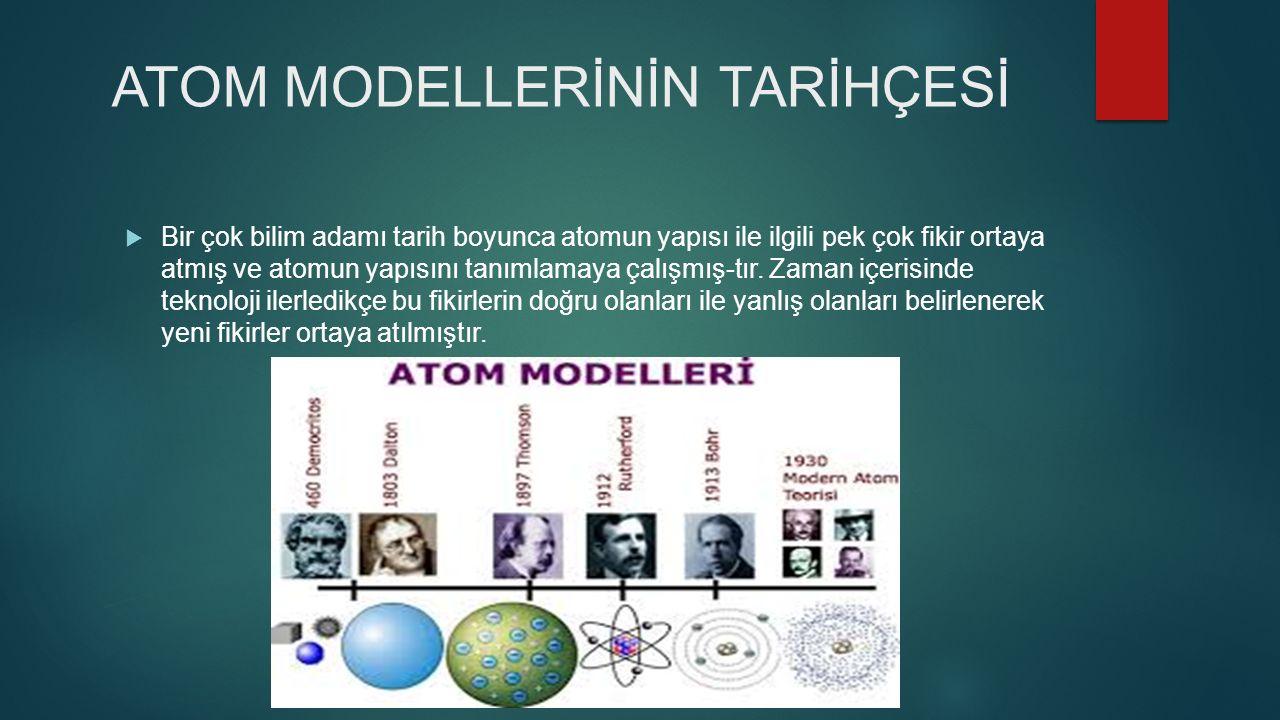 KİMYA -ATOM MODELLERİ-