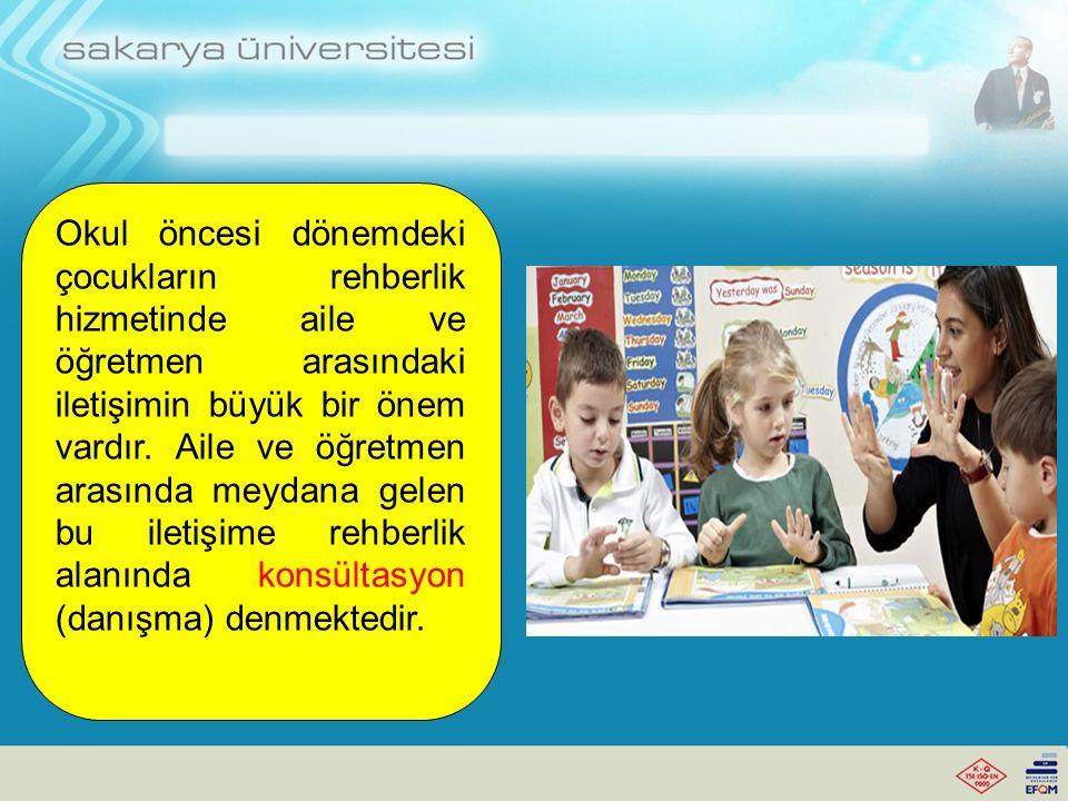 Okul öncesi dönemdeki çocukların rehberlik hizmetinde aile ve öğretmen arasındaki iletişimin büyük bir önem vardır. Aile ve öğretmen arasında meydana