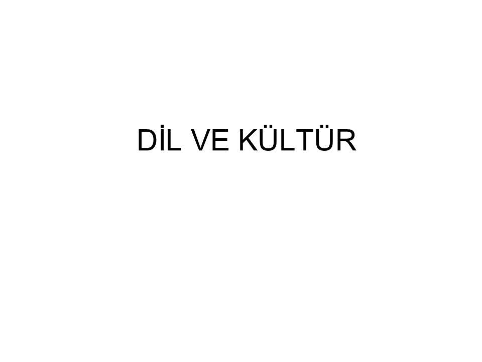 DİL VE KÜLTÜR