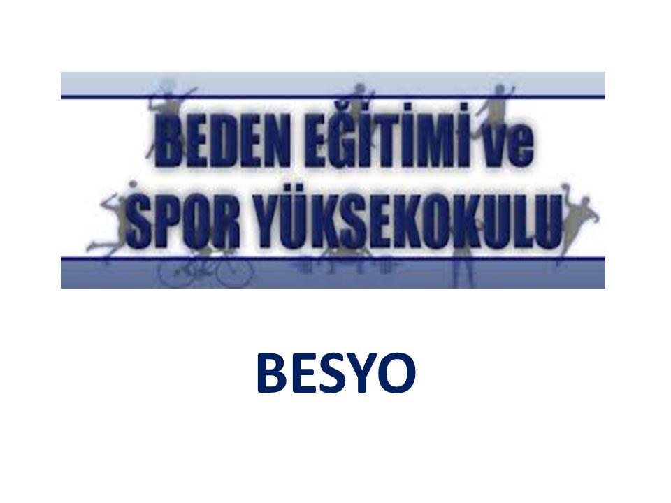 BESYO Tam Olarak Nedir.BESYO kelimesinin açılımı Beden Eğitimi ve Spor Yüksek Okuludur''.