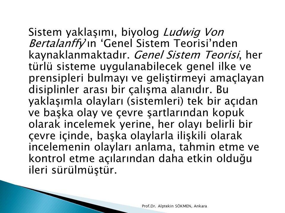 Sistem yaklaşımı, biyolog Ludwig Von Bertalanffy'ın 'Genel Sistem Teorisi'nden kaynaklanmaktadır.