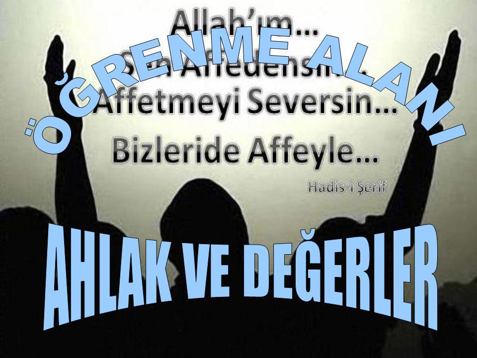 Affedin ki, Allah da sizi affetsin ve şerefinizi yükseltsin! Allah rızası için affedeni, Yüce Allah yükseltir. HADİS Hz.